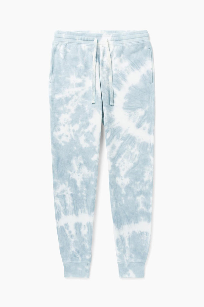 Richer Poorer Unisex fleece jogger sweatpants tie dye blue mirage wash | pipe and row