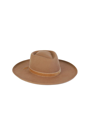 Lack of Color Val Diamond hat desert teak light brown | pipe and row