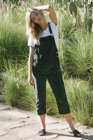 Vienna corduroy overall green rue stiic | pipe and row