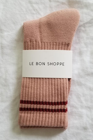 Le Bon Shoppe Boyfriend socks WFH cozy vintage pink | Pipe and Row Boutique Seattle