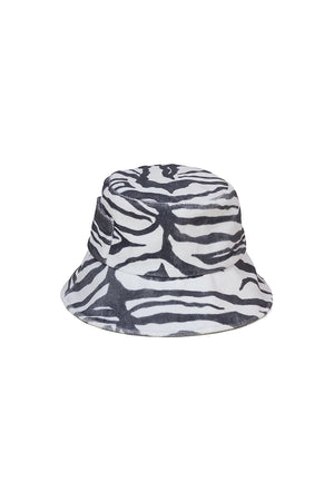 Lack of Color Wave bucket hat in zebra print terrycloth | pipe and row