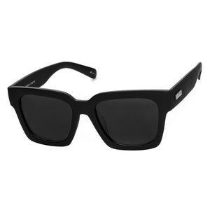 weekend riot black rubber le specs oversized sunglasses | pipe and row