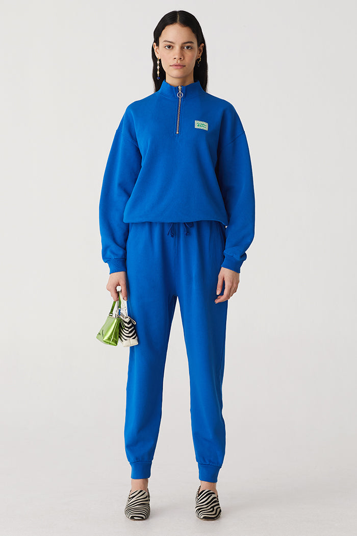 Paloma Wool Magali cotton jogger knit sweatpants blue | pipe and row