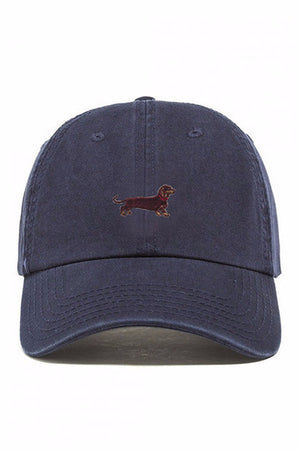 Dog Dachshund Embroidered Weiner baseball dad hat | PIPE AND ROW