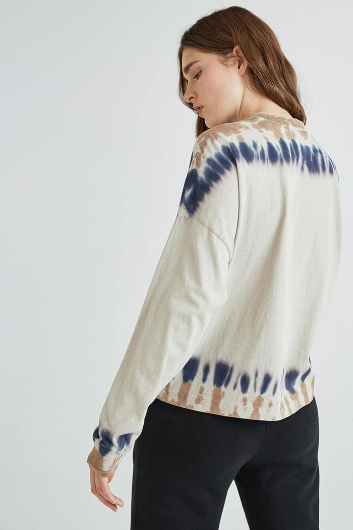 RELAXED LONG SLEEVE PULLOVER TIE DYE
