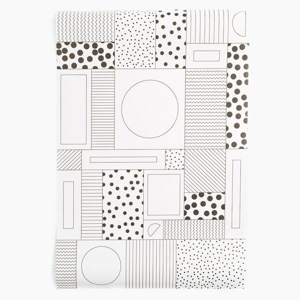 WRAPPING PAPER BLACK/WHITE