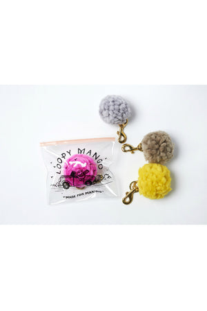 ws diy kit pom keychain loopy mango | pipe and row boutique