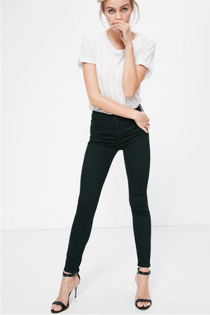 high waisted looker not guilty black mother denim | pipe and row