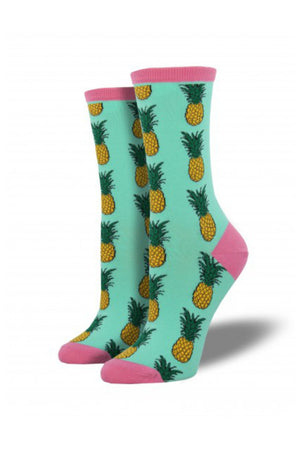 pineapple wintergreen socks womens sock smith | pipe and row