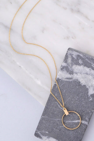 reine necklace gold fresh tangerine | pipe and row boutique