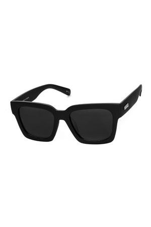 weekend riot black rubber le specs sunglasses | pipe and row