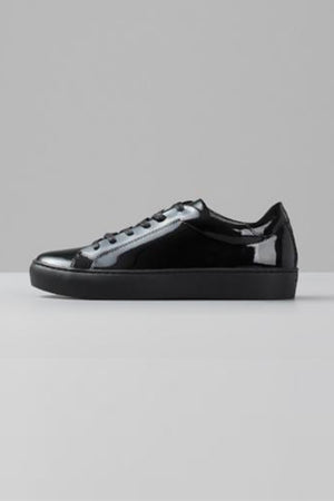 ZOE BLACK PATENT SNEAKERS