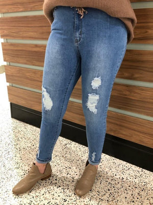 Light Ripped Country Denim Jeans