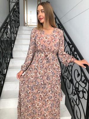 Load image into Gallery viewer, Madena Rose Layered Dress