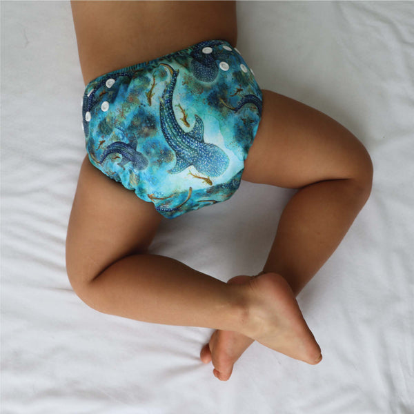 'Ningaloo Dreaming' OSFM Side Snapping Cloth Nappy