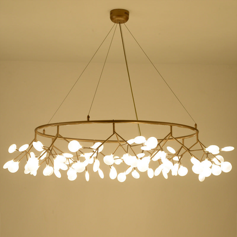 Post modern chandelier, Nordic living room chandelier creative personality restaurant, firefly chandelier simple designer lamps