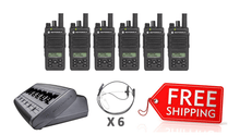 Load image into Gallery viewer, Complete Package - 6 X Motorola DP2600e Digital Two Way Radio With Acoustic Earpiece - Radio-Shop.uk - 1