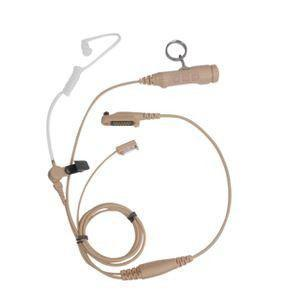 Hytera 3-wire Dual-PTT Surveillance Earpiece with Transparent Acoustic Tube (Beige) - EAN19_Radio-Shop UK