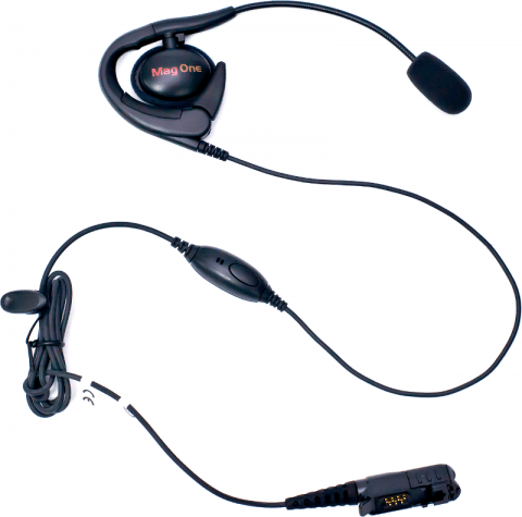 Motorola Mag One Ear Set with Boom Mic & In-line PTT/VOX switch - PMLN5732A - Radio-Shop.uk