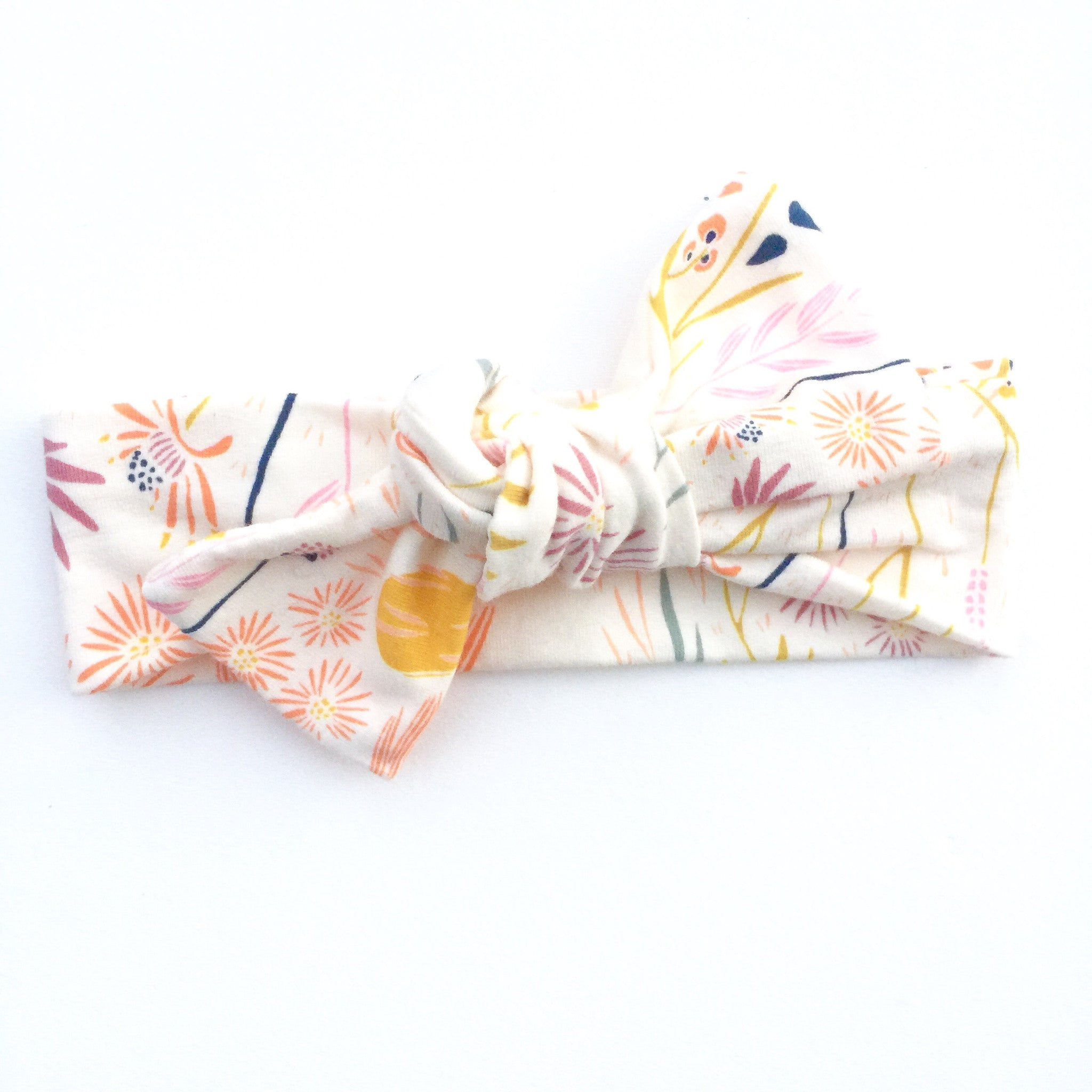 Wispy Wildflower Top Knot Headband
