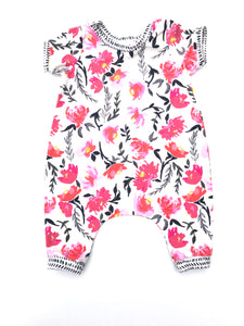 Watercolor Floral Balloon Pant Romper