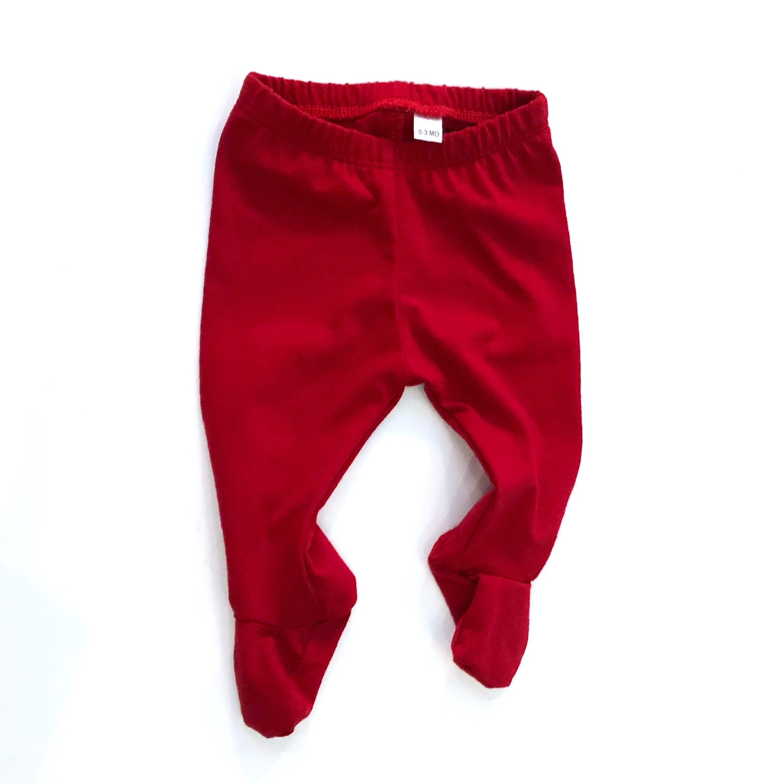 Deep Red Footed Pants