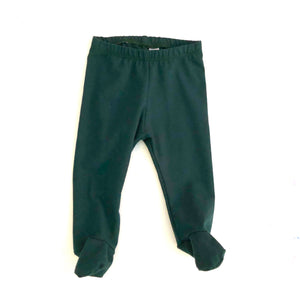 Hunter Green Footed Pants