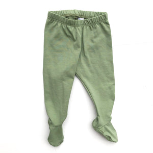 Dark Sage Footed Pants