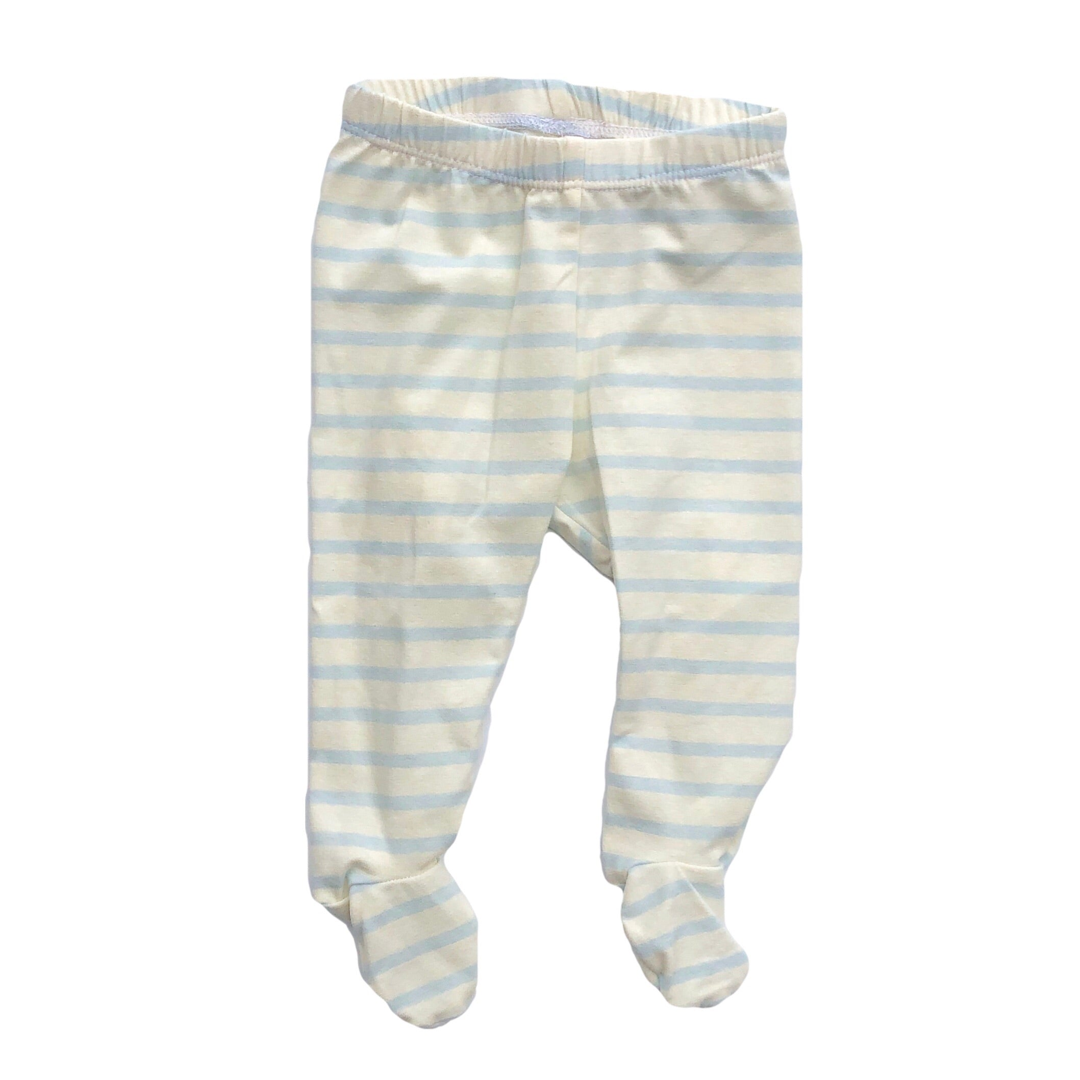 Sky & Ivory Stripe Footed Pants