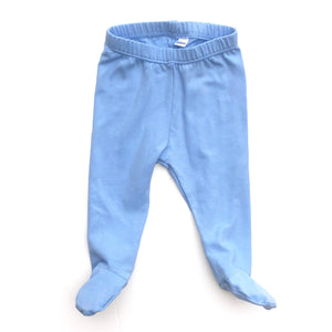 Powder Blue Footed Pants