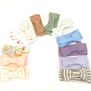 Coordinating New Baby Bows (0-6 months)