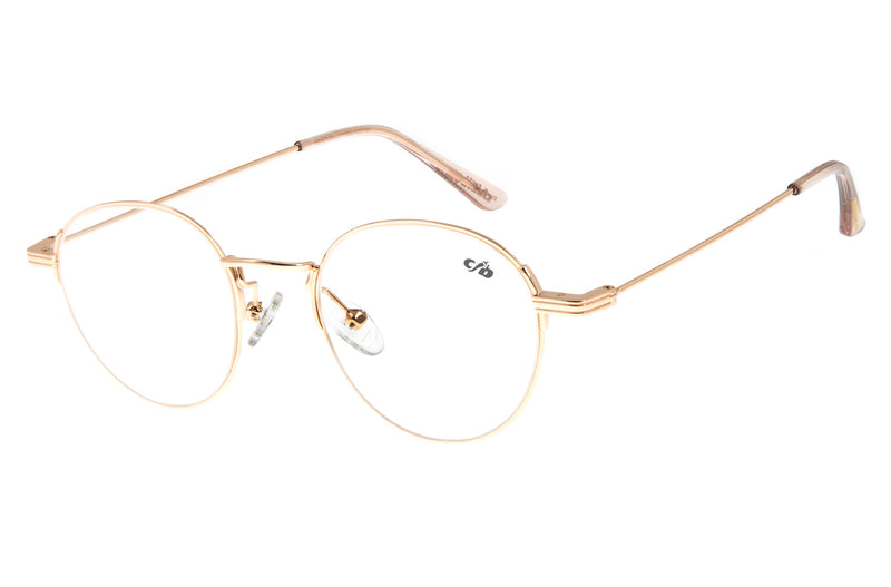 WOMEN GOLD COLLECTION ROUND OPTICAL