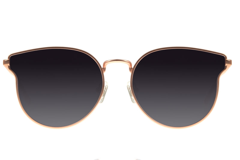 WOMEN GOLD CAT ROUND SUNGLASSES