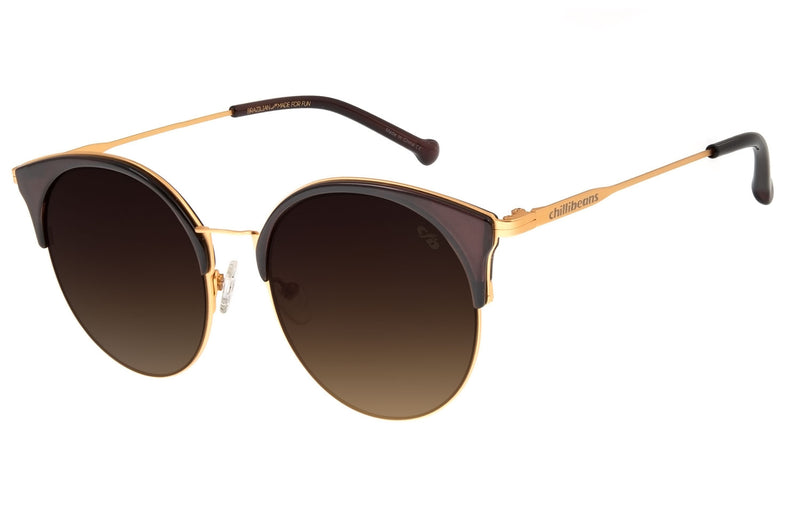 WOMEN GOLD ROUND SUNGLASSES