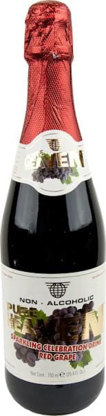 Pure Heaven Sparkling Drink- Red Grape- 12 x 75 cl