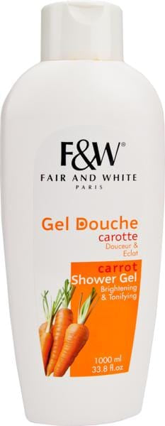 Fair & White Brightening Shower Gel Carrot 1000 ml