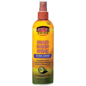 African Pride Braid Sheen Extra Spray 12 oz