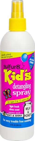 Sulfur 8 Kids Detangling Spray 12 oz