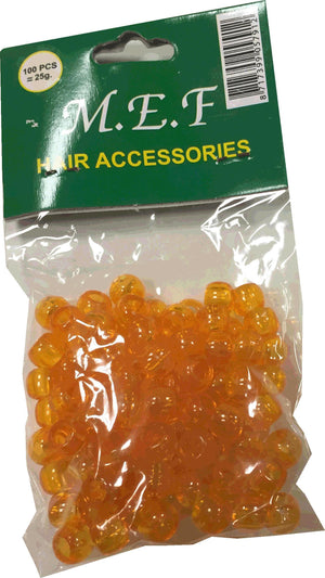Hair Beads Yellow MEF Hair Accessoires