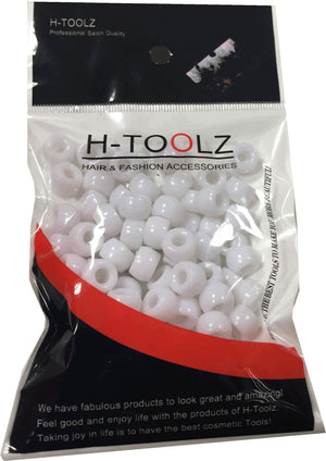 Hair Beads White H Toolz