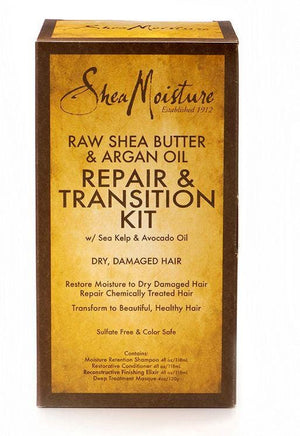 Shea Moisture Raw Shea Butter and Argan Oil Repair and Transition Kit