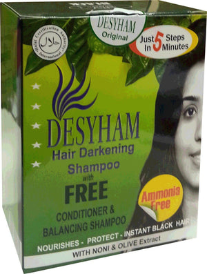 Desyham Hair Darkening Shampoo with Conditioner Black 1 x 5