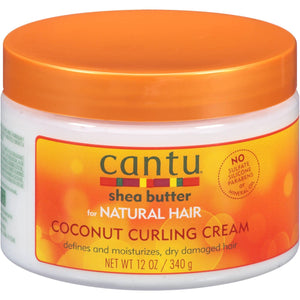 Cantu Shea Butter Coconut Curling Cream for Natural Hair 340 g