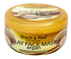 Black and Red Face Mask Argan 400 g
