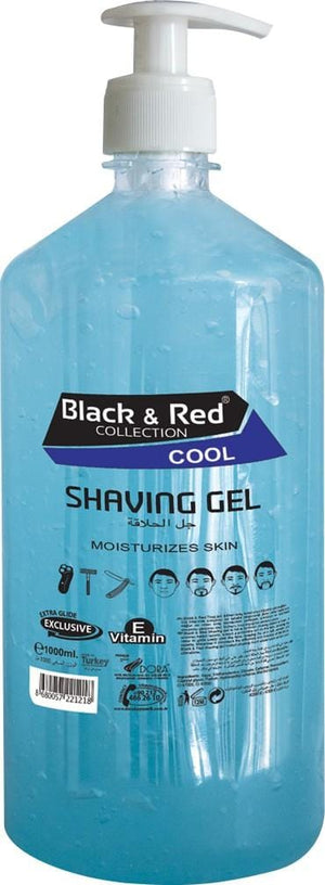 Black and Red Shaving Gel Cool 1000ml