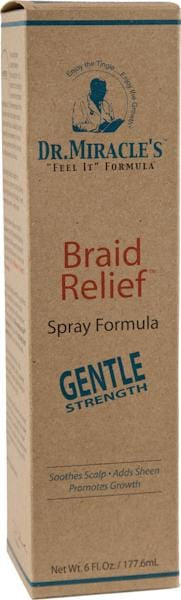 Dr. Miracle Braid Relief Spray Formula - Gentle 6 oz