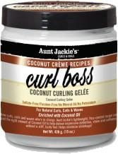 Aunt Jackie's Coconut Creme Recipes Curl Boss Coconut Curling Gèlee 426 g