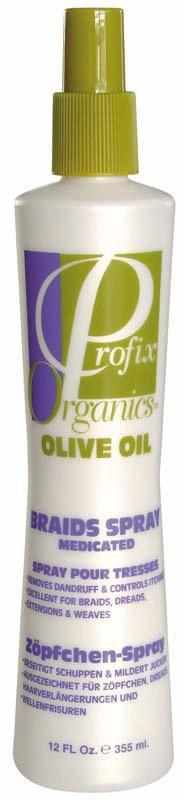 Profix Organics Olive Oil Braids Spray Medicated 355 ml