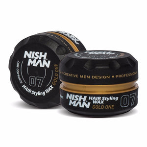 Nish Man Hair Styling Wax Gold One 150 ml