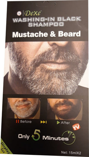 Dexe Washing-in Black Shampoo Mustache & Beard 2 pieces 15 ml